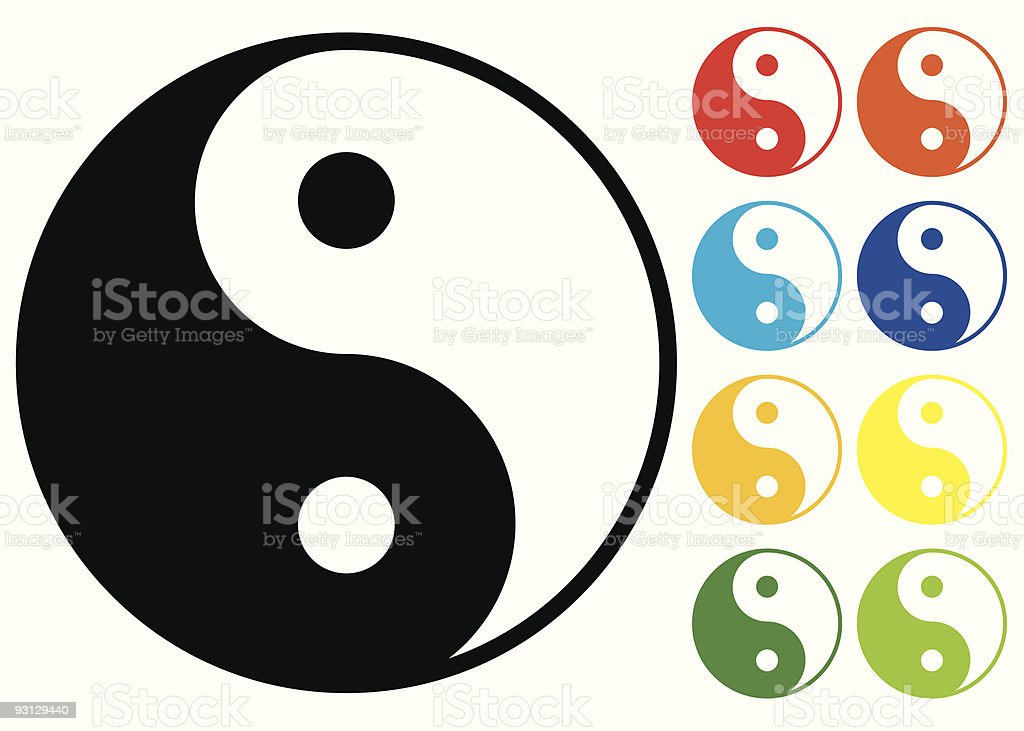 Yin and Yang symbol. royalty-free stock vector art