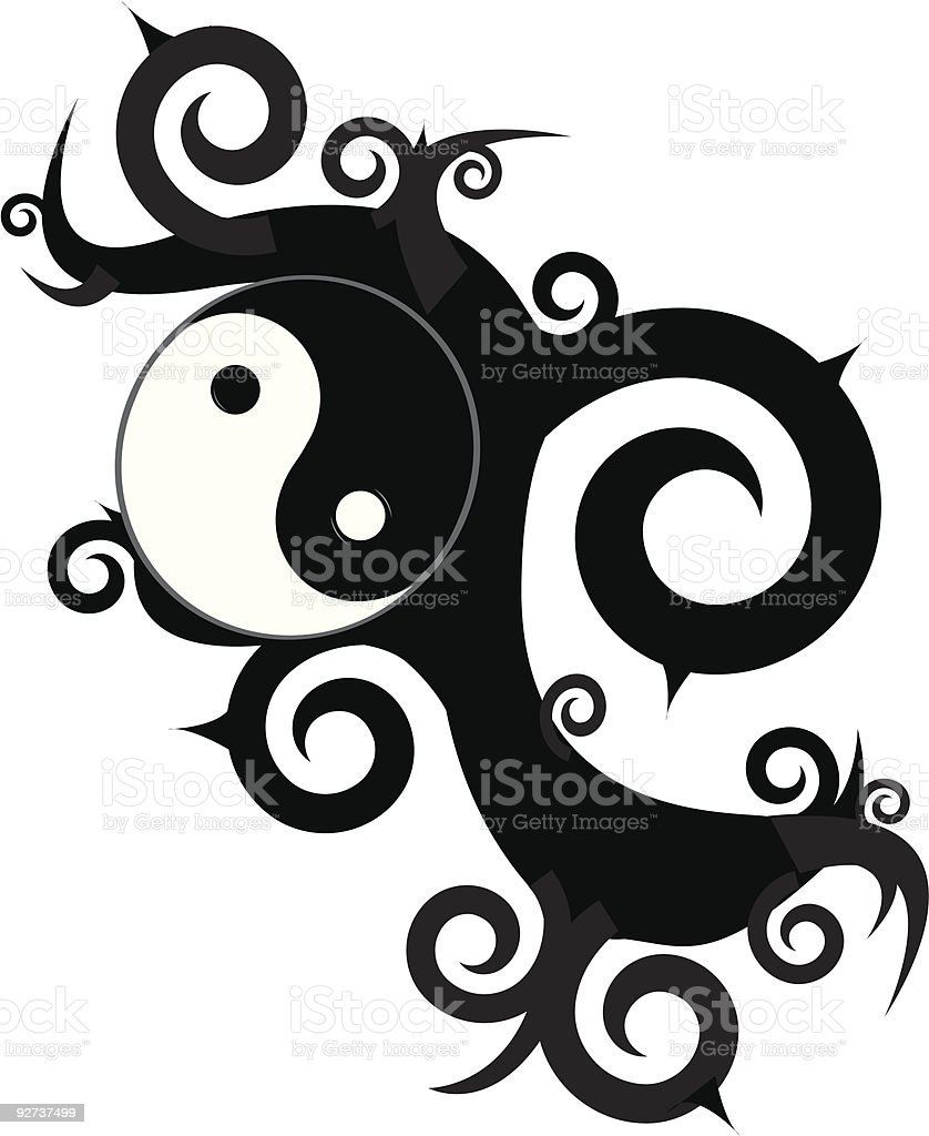 Yin Yang Design royalty-free stock vector art