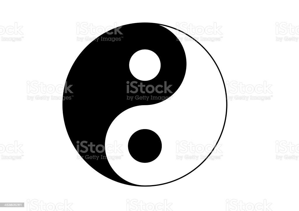 Yin Yang royalty-free stock vector art