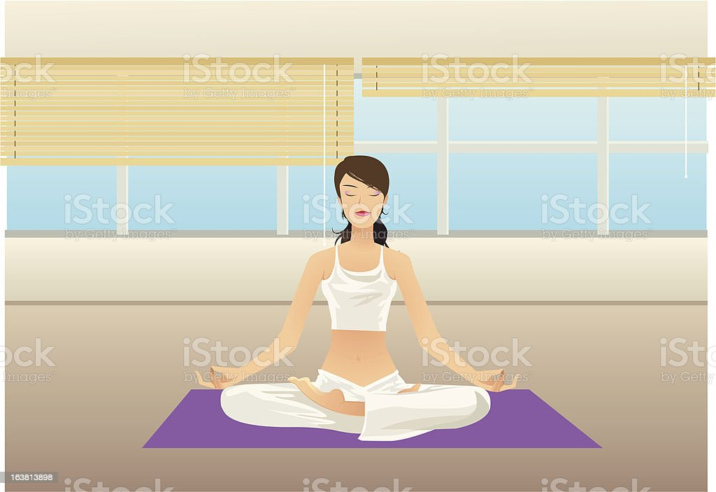 Yoga (vector) royalty-free stock vector art