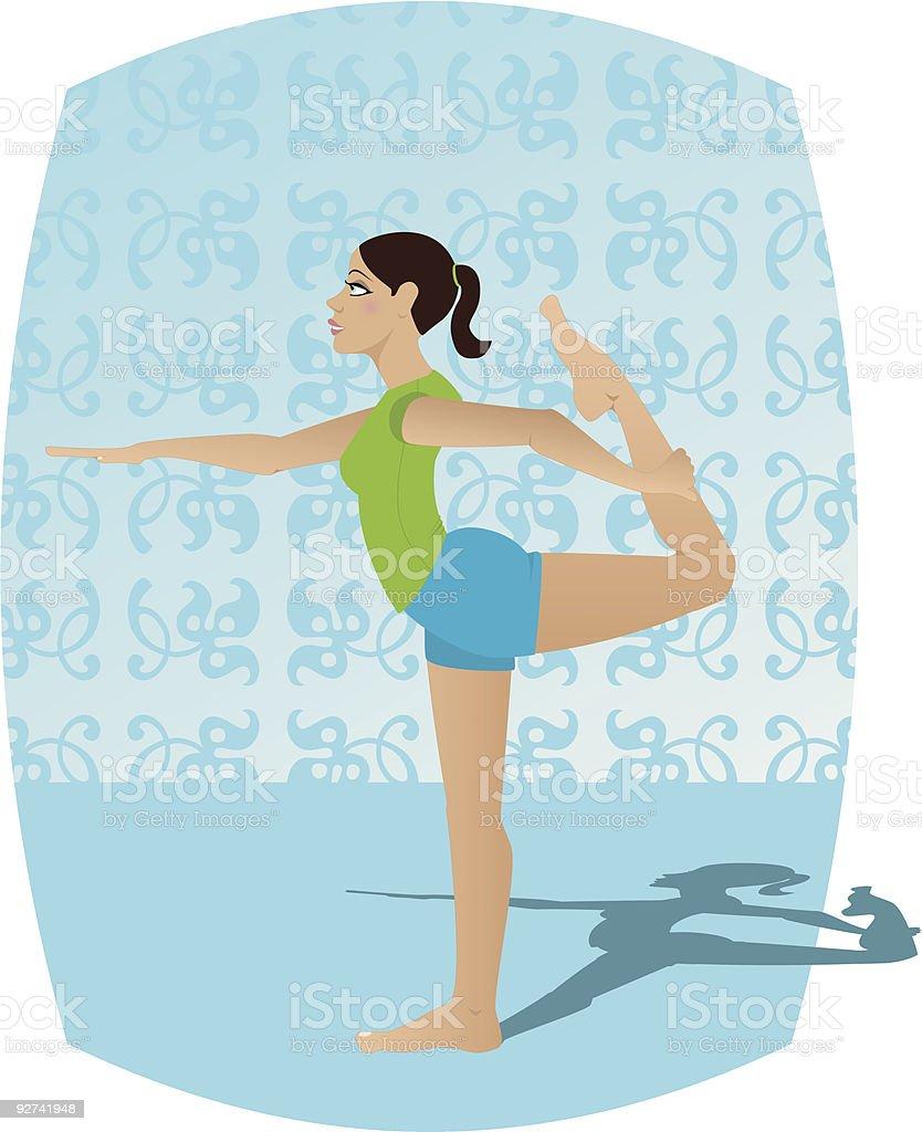 Yoga Natarajasana royalty-free stock vector art
