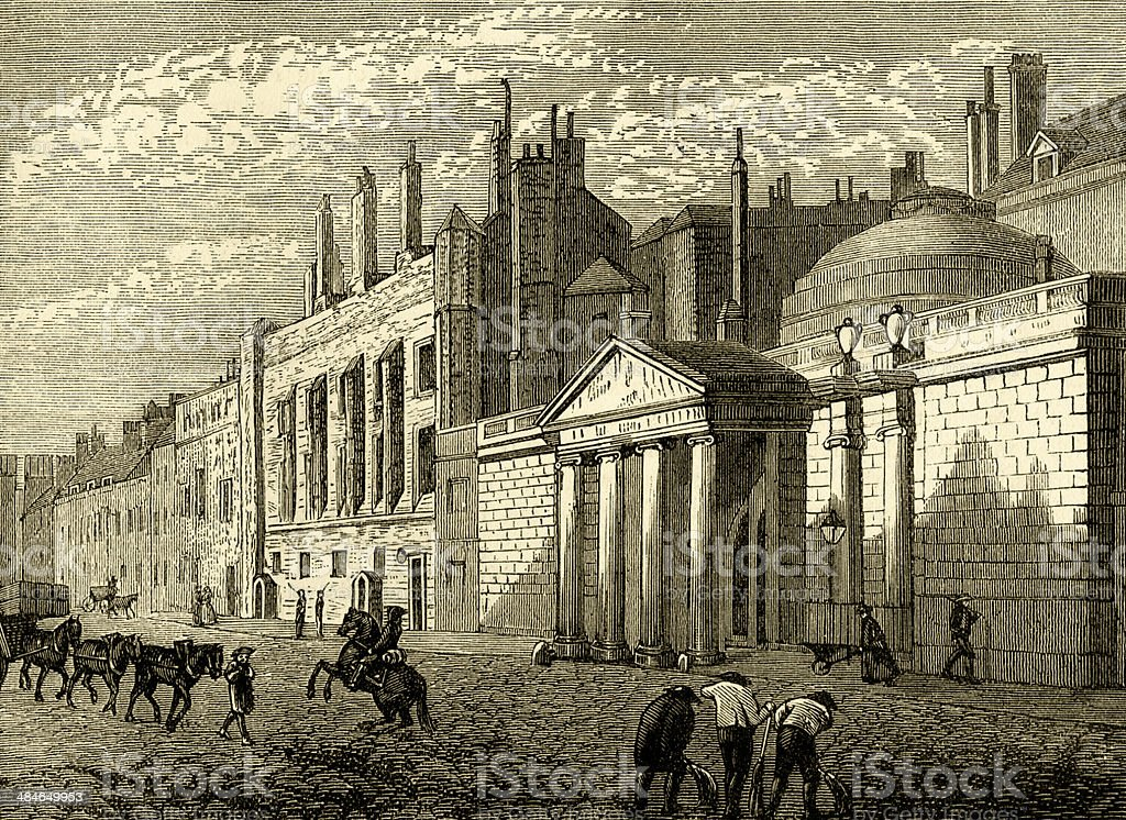 York House in 1795 royalty-free stock vector art