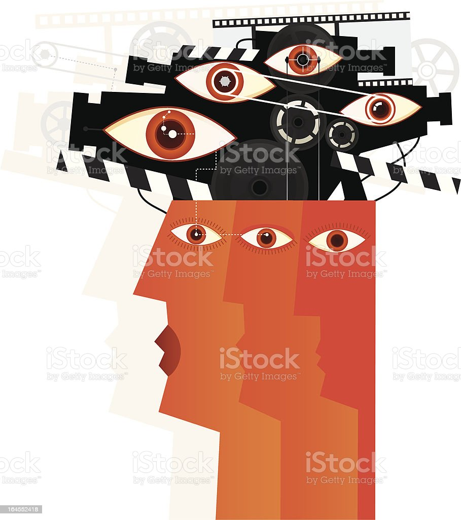 You Are Watched royalty-free stock vector art