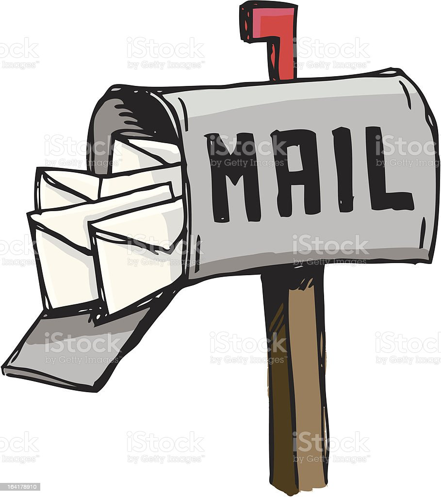 You got mail royalty-free stock vector art