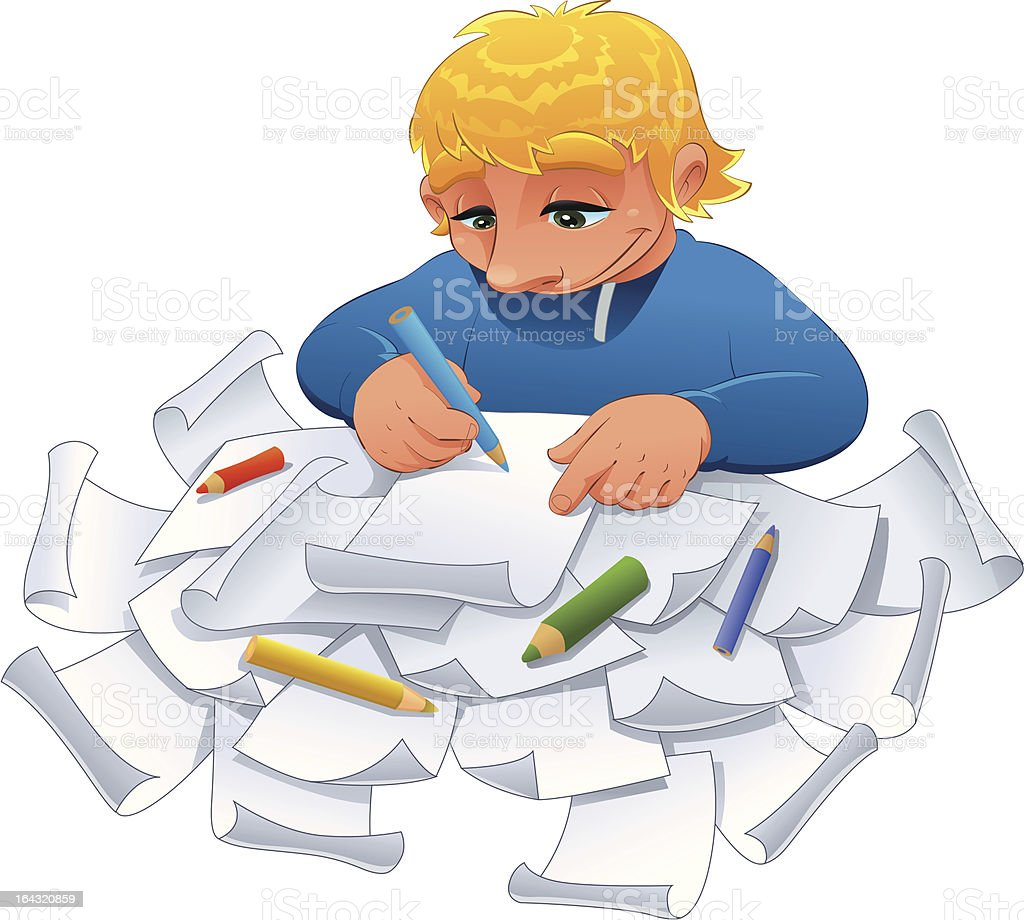 Young designer. royalty-free stock vector art