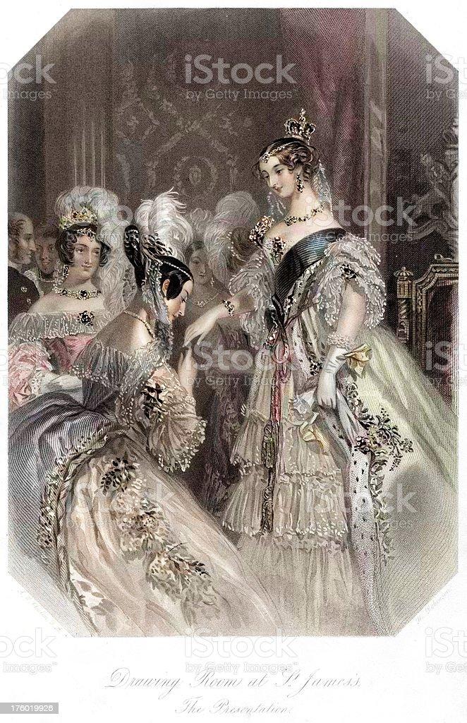 Young Queen Victoria royalty-free stock vector art