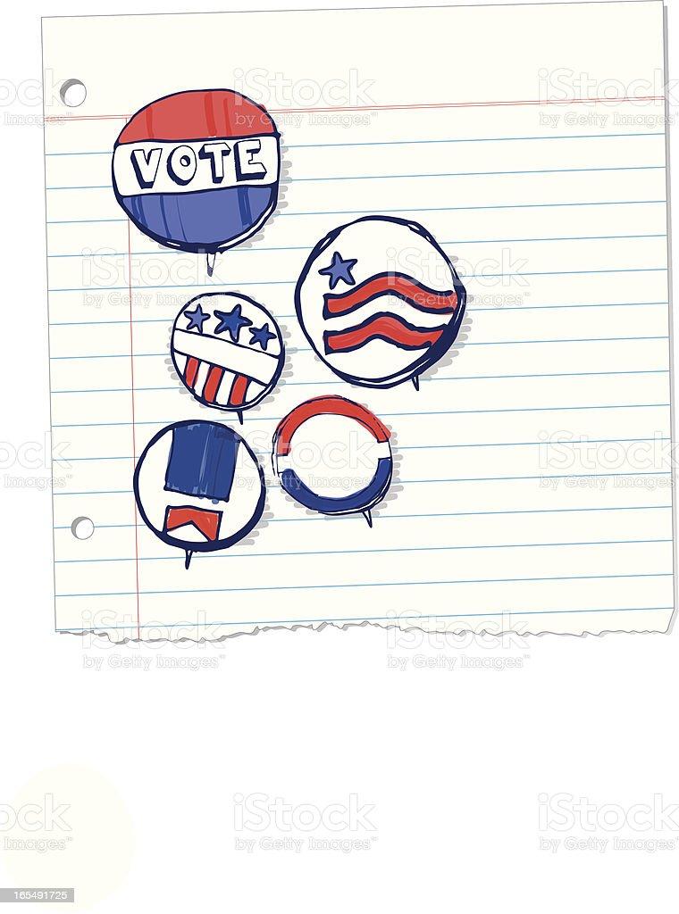 Youth Vote vector art illustration