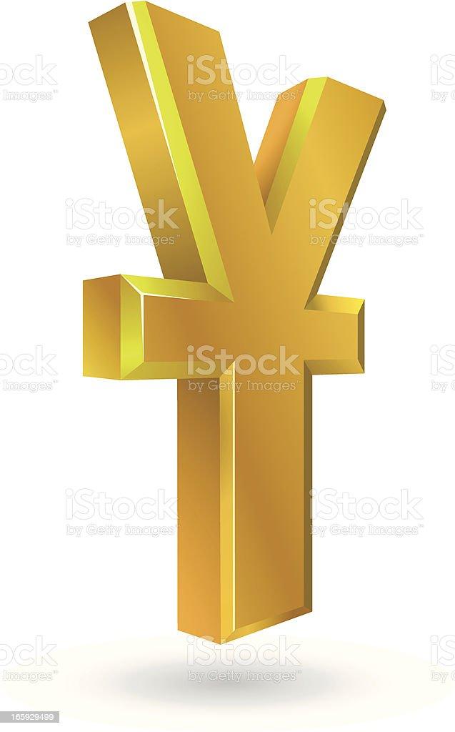 yuan sign royalty-free stock vector art
