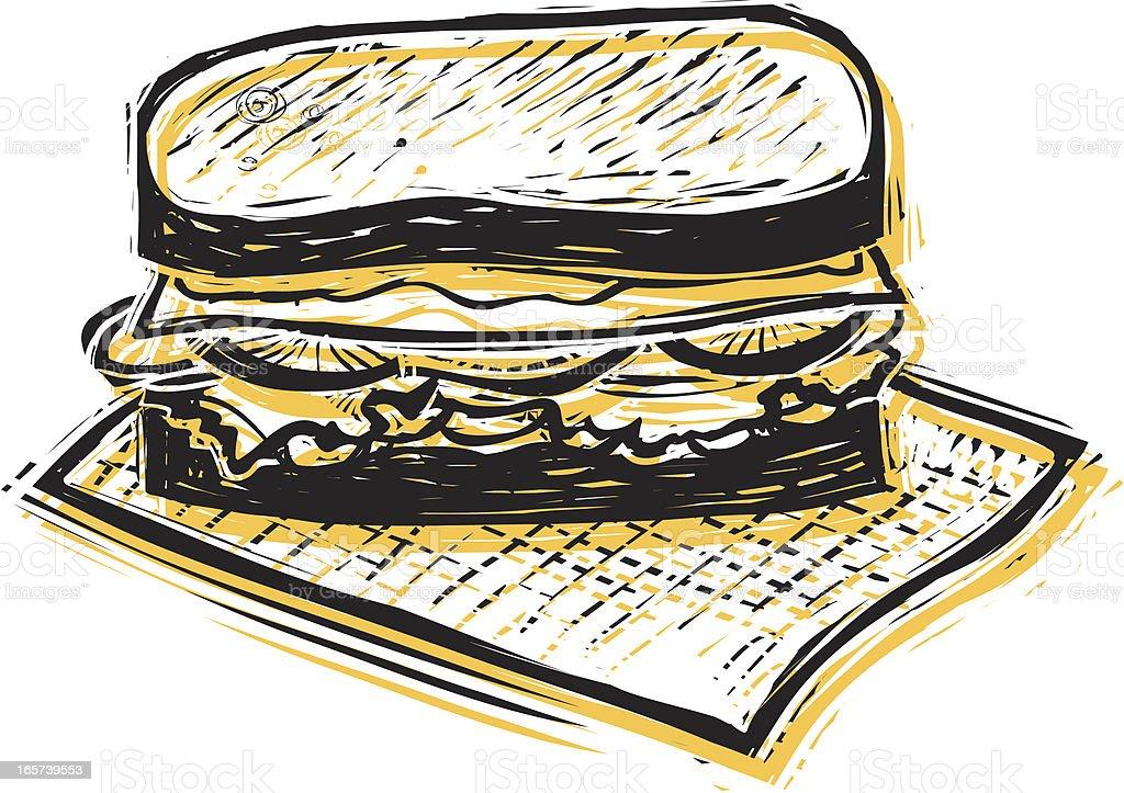 Yummy Sandwich vector art illustration