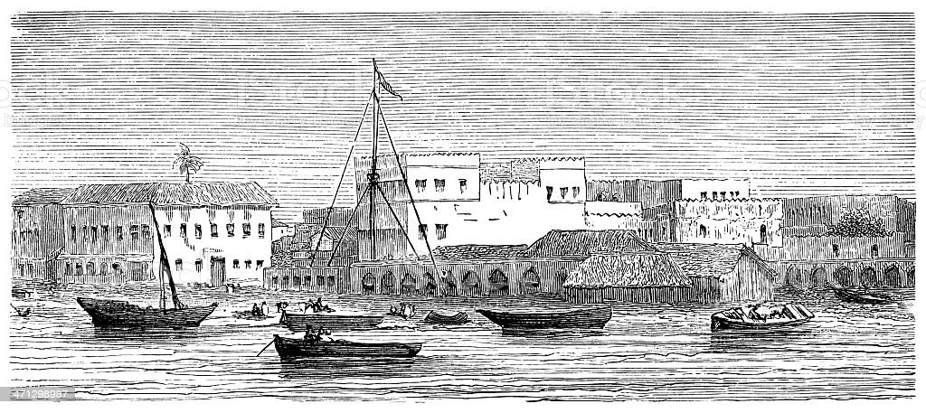 Zanzibar (1882 illustration) royalty-free stock vector art