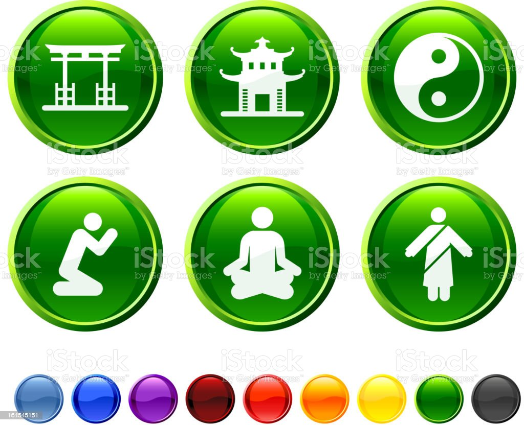 Zen and Buddha royalty free vector icon set royalty-free stock vector art