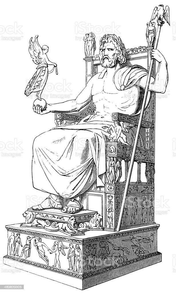 Zeus royalty-free stock vector art