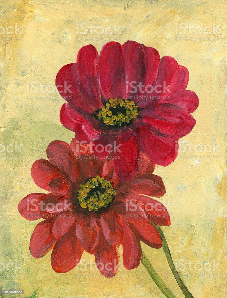 Zinnia flowers arrangement royalty-free stock vector art