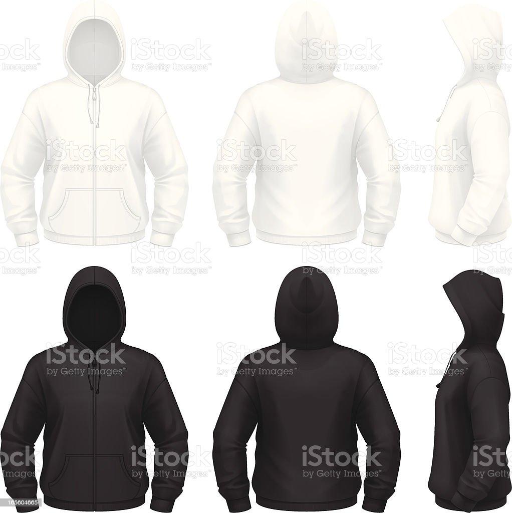 Zip hoodie royalty-free stock vector art