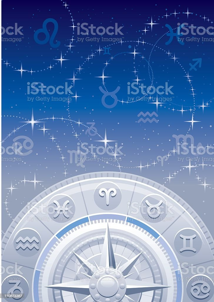 Zodiac background vector art illustration