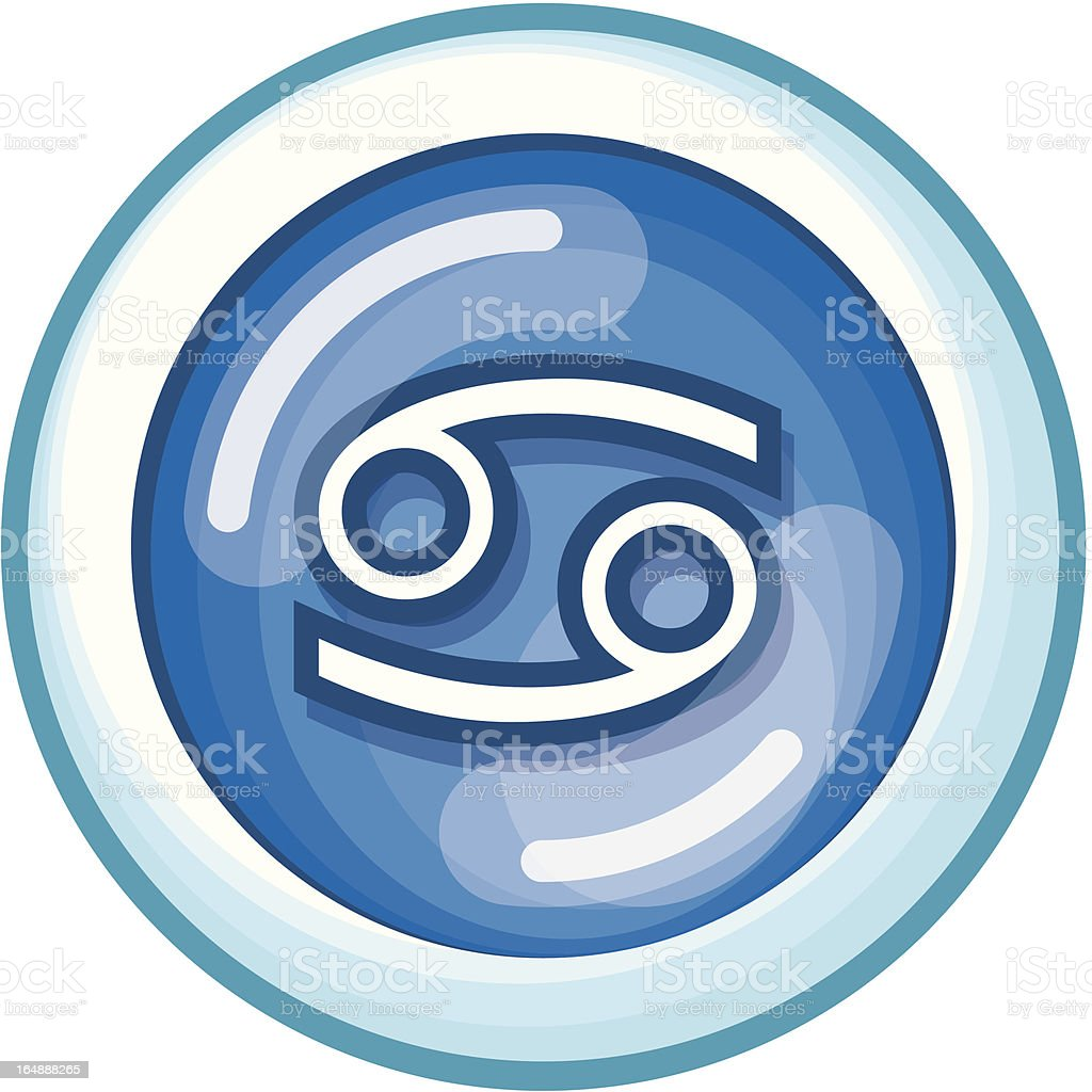 Zodiac Cancer (Vector Format) royalty-free stock vector art