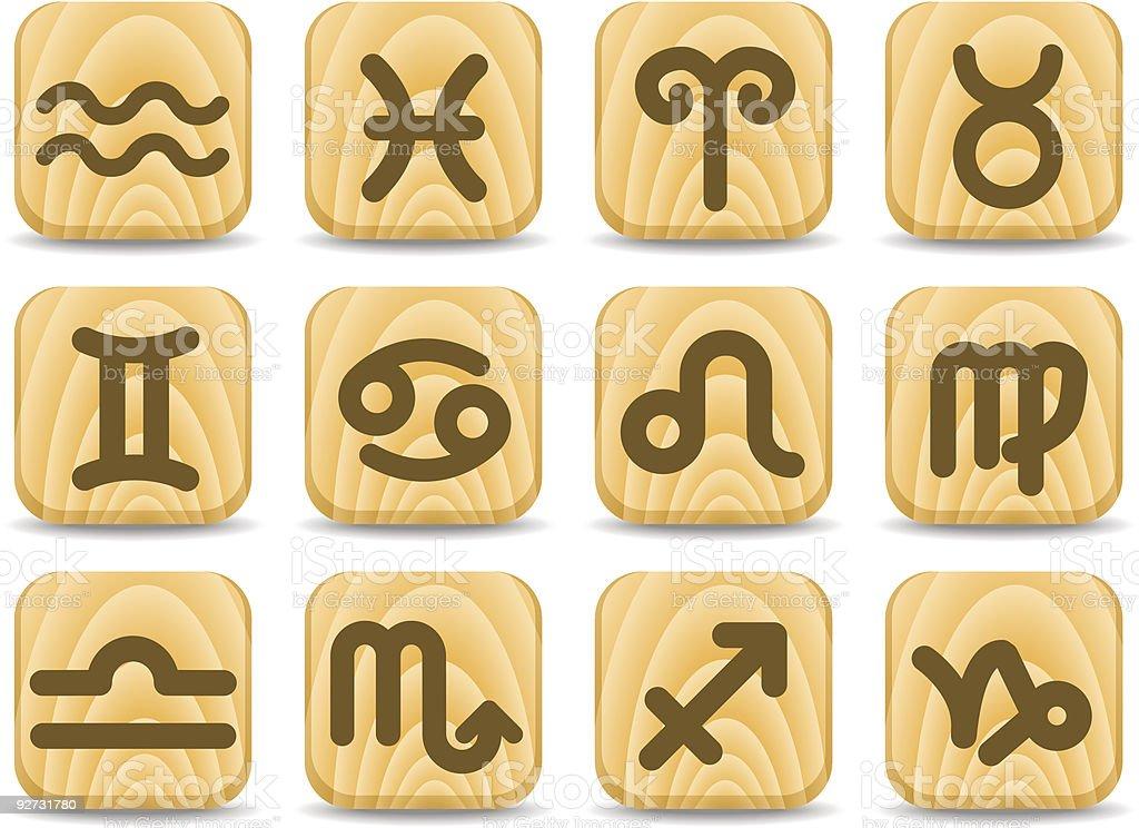 Zodiac icons royalty-free stock vector art
