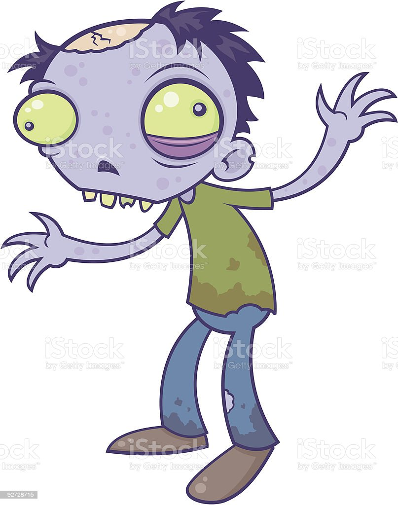 Zombie Dude vector art illustration