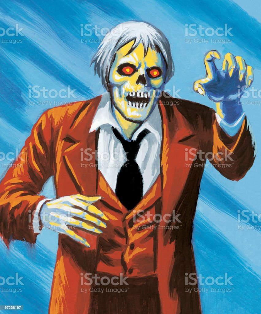Zombie royalty-free stock vector art