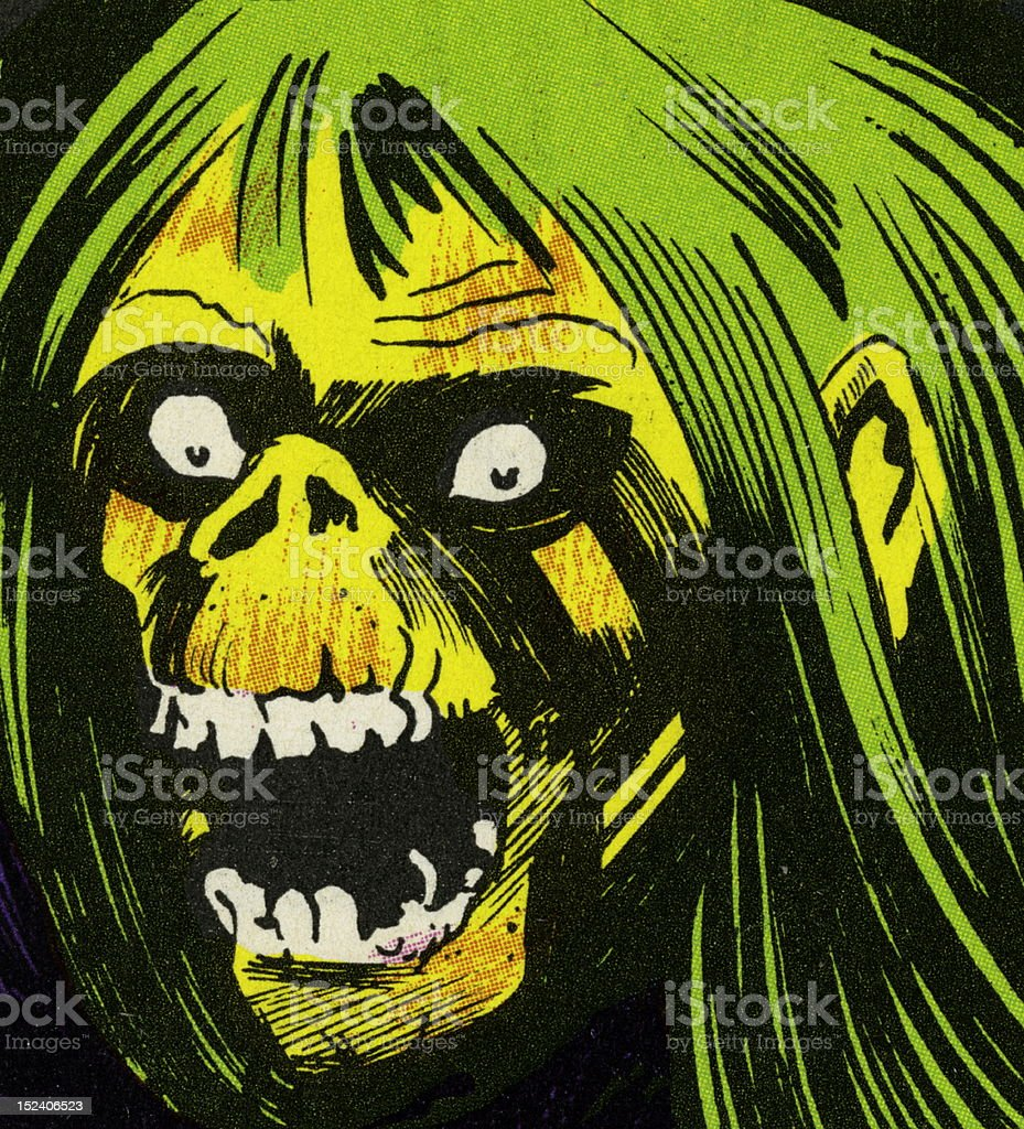Zombie With Mouth Open royalty-free stock vector art