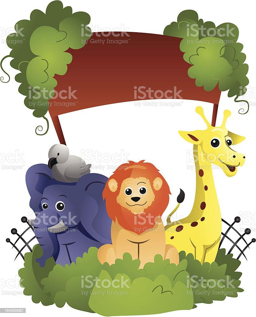 Zoo royalty-free stock vector art
