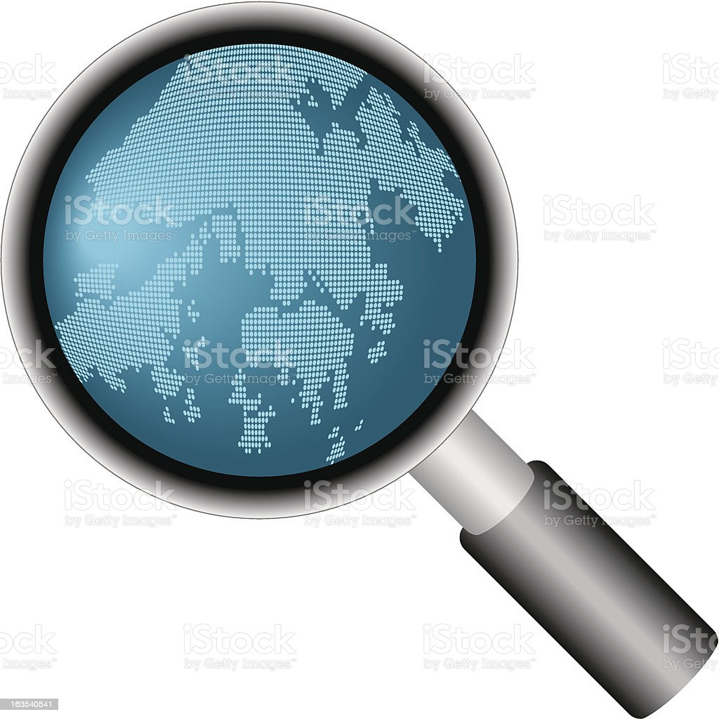 Zoom in Hong Kong royalty-free stock vector art