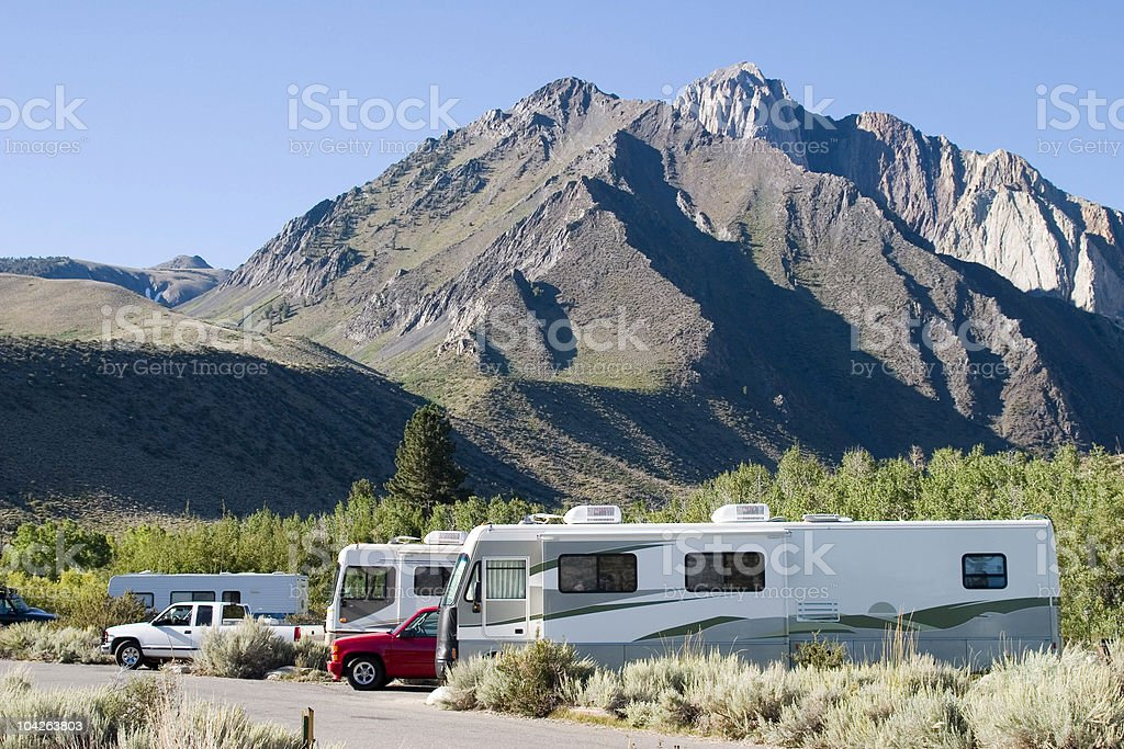 RV CAMPING royalty-free stock photo