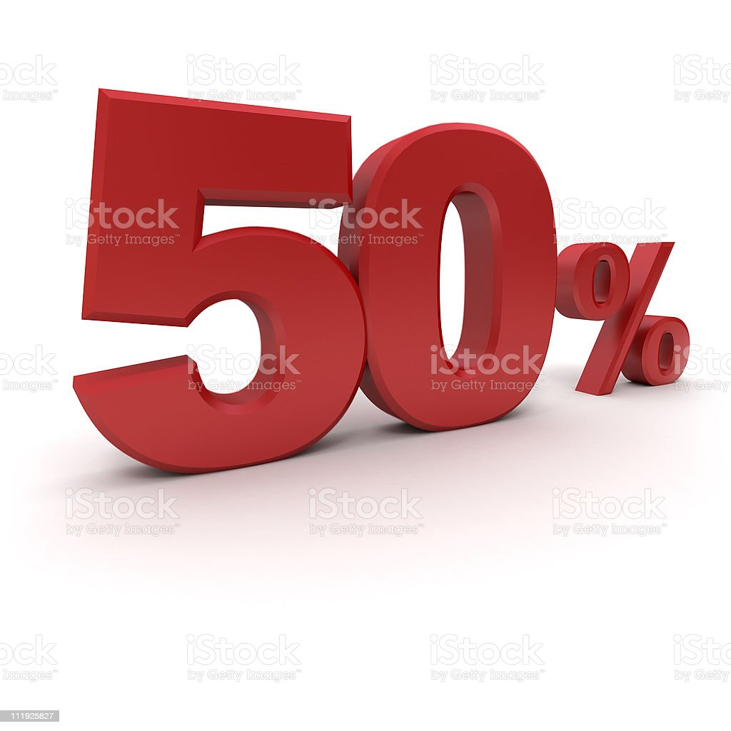 50% royalty-free stock photo