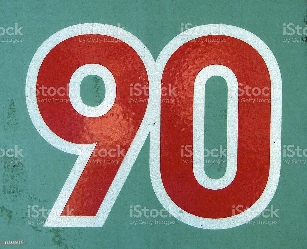 90 stock photo