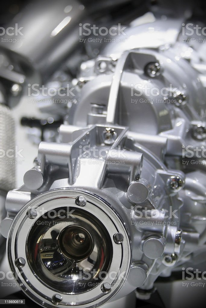SPORTS CAR ENGINE royalty-free stock photo