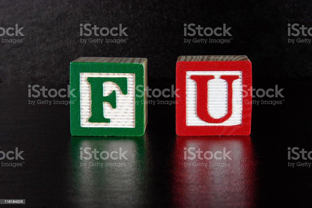 F U royalty-free stock photo