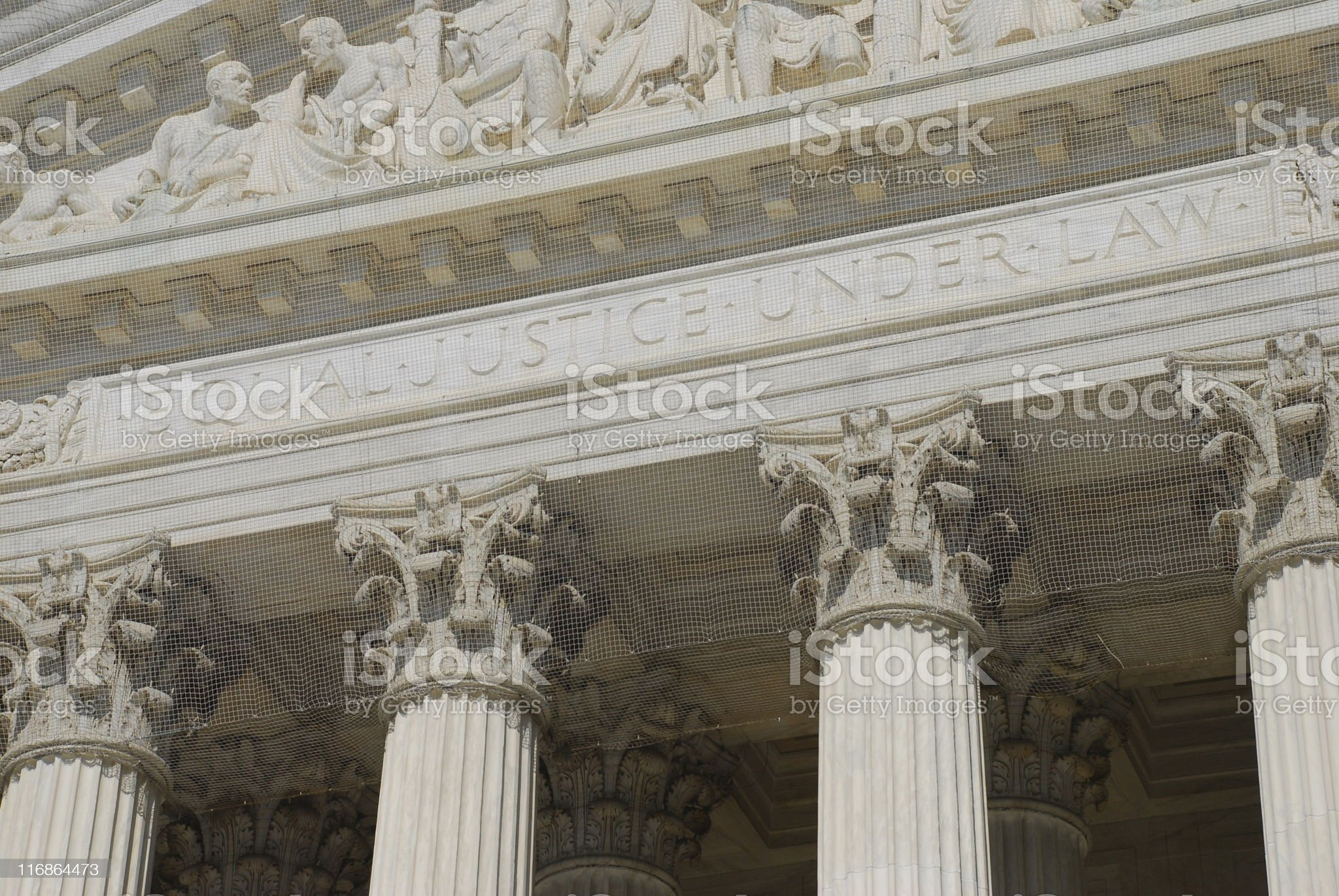 EQUAL JUSTICE UNDER LAW royalty-free stock photo