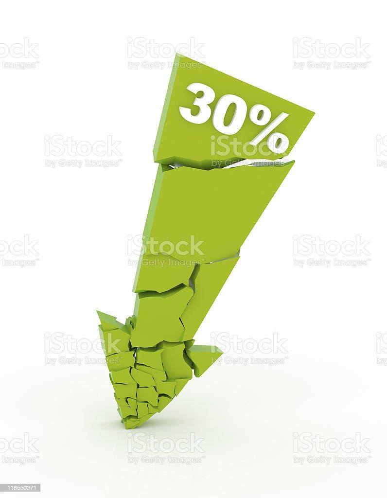 -30% stock photo