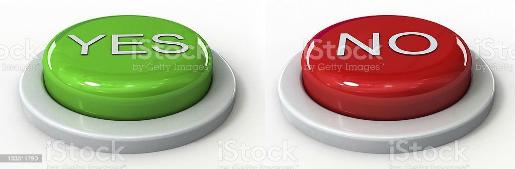 YES AND NO ICON stock photo