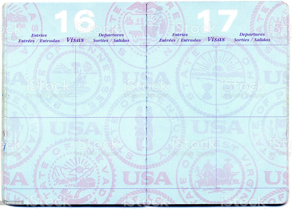 US PASSPORT stock photo