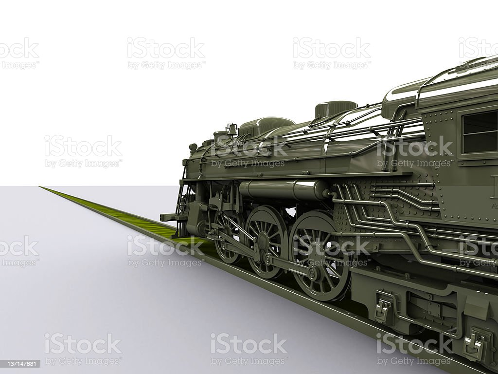GIANT OLD TRAIN LOCOMOTIVE royalty-free stock vector art