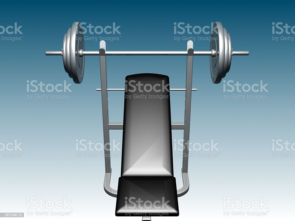 GYM BENCH BARBELL 2 royalty-free stock photo