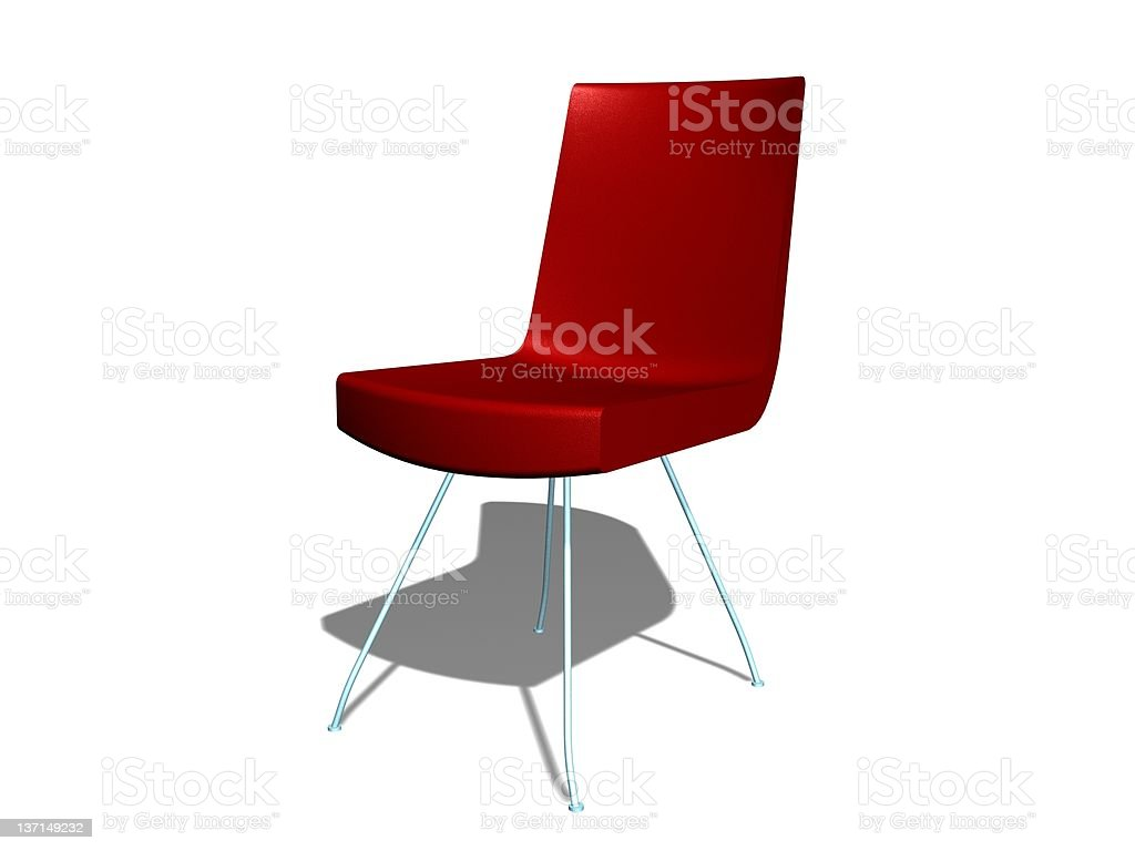 RED MODERN CHAIR royalty-free stock photo
