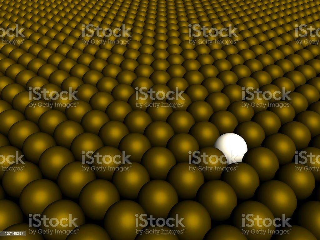 GOLD BALLS FIELD stock photo
