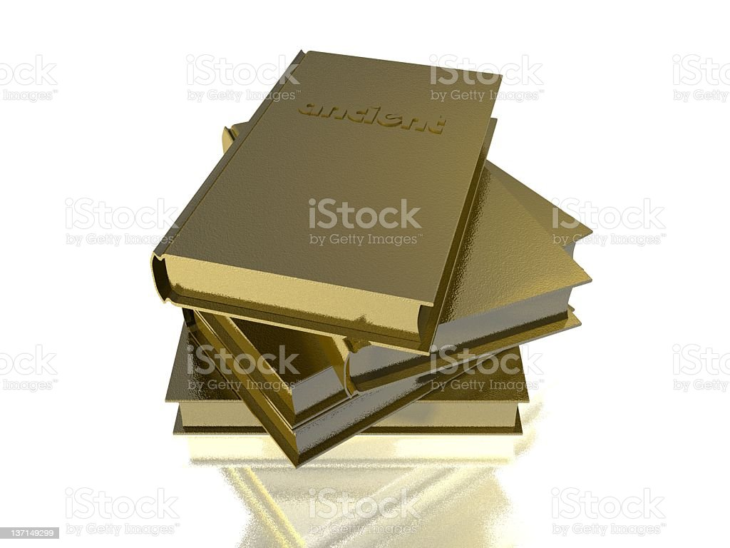 GOLD TEXTURE BOOKS stock photo