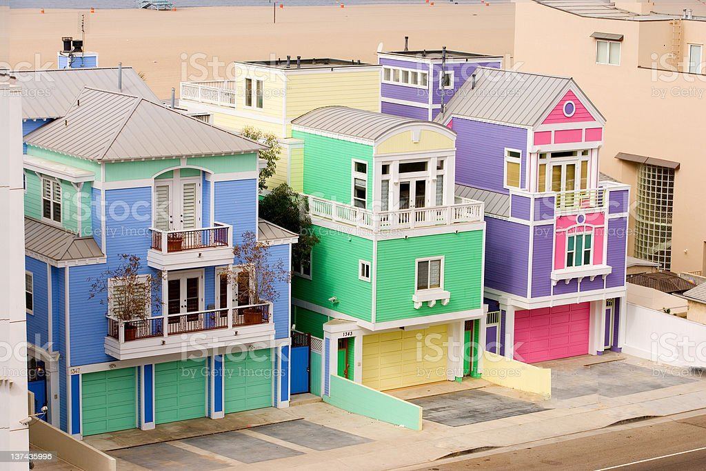 HOUSES ONPCH royalty-free stock photo