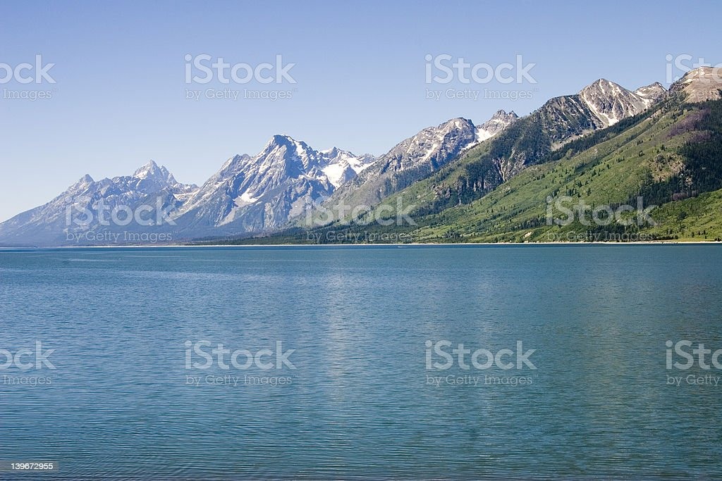 JACKSON LAKE 1 royalty-free stock photo