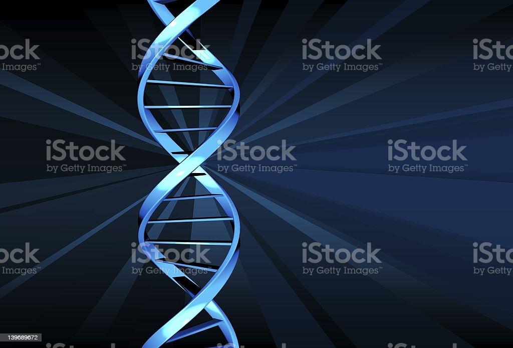DNA  (double helix) royalty-free stock photo