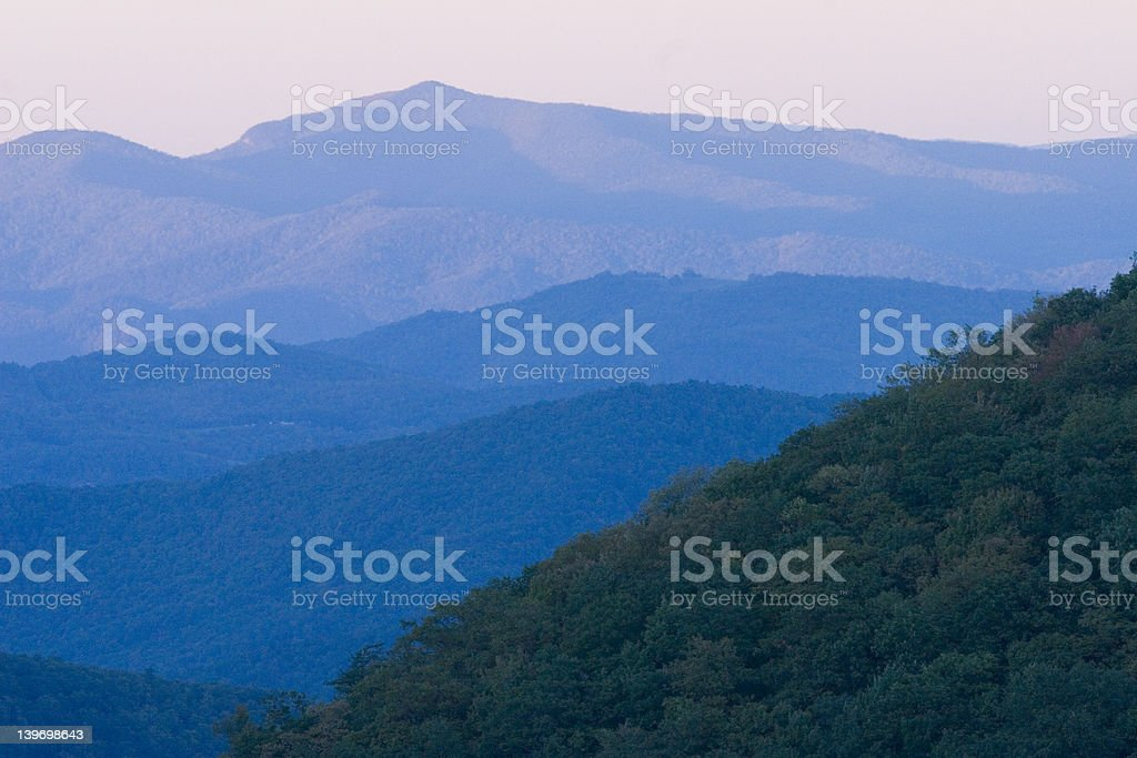 BLUE RIDGE PARKWAY NEAR MT MITCHELL 4 royalty-free stock photo