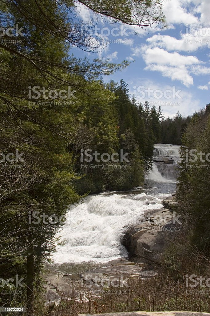 TRIPLE FALLS LITTLE RIVER royalty-free stock photo