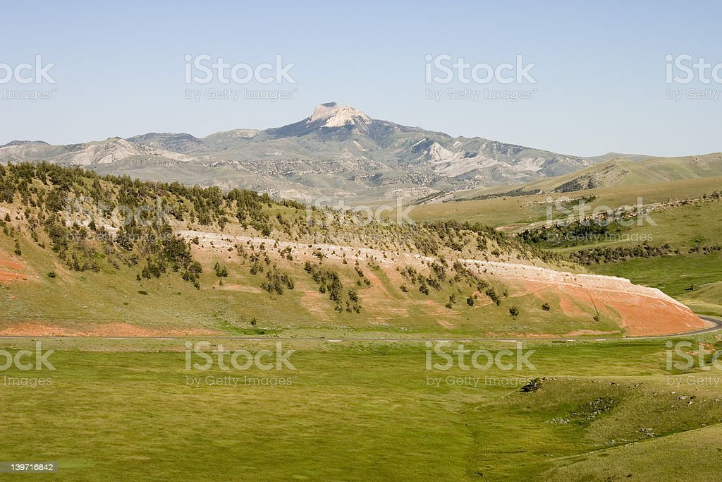 HEART MOUNTAIN royalty-free stock photo