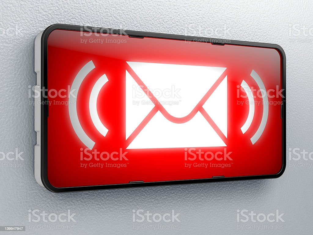 SMS royalty-free stock photo