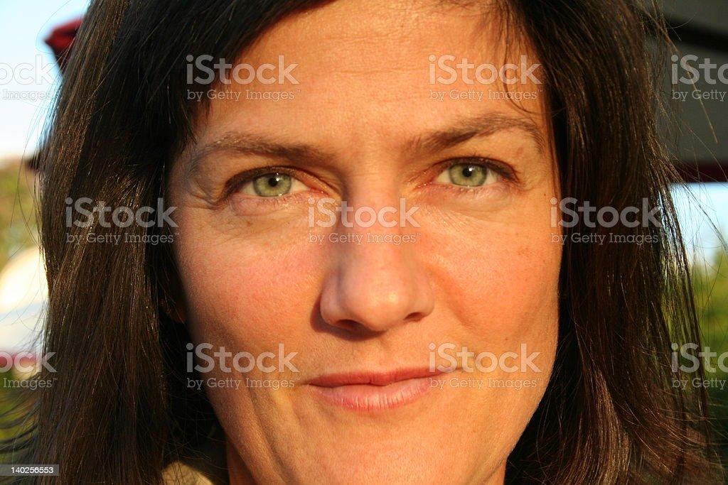 BLUE EYED LADY stock photo