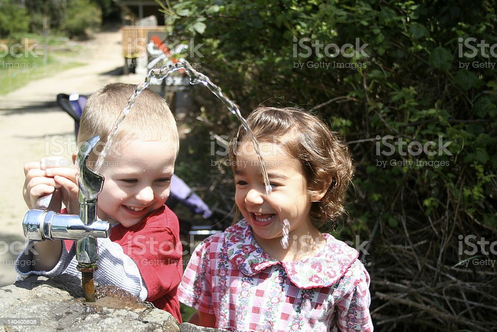 WATER FOUNTAIN LOVE royalty-free stock photo