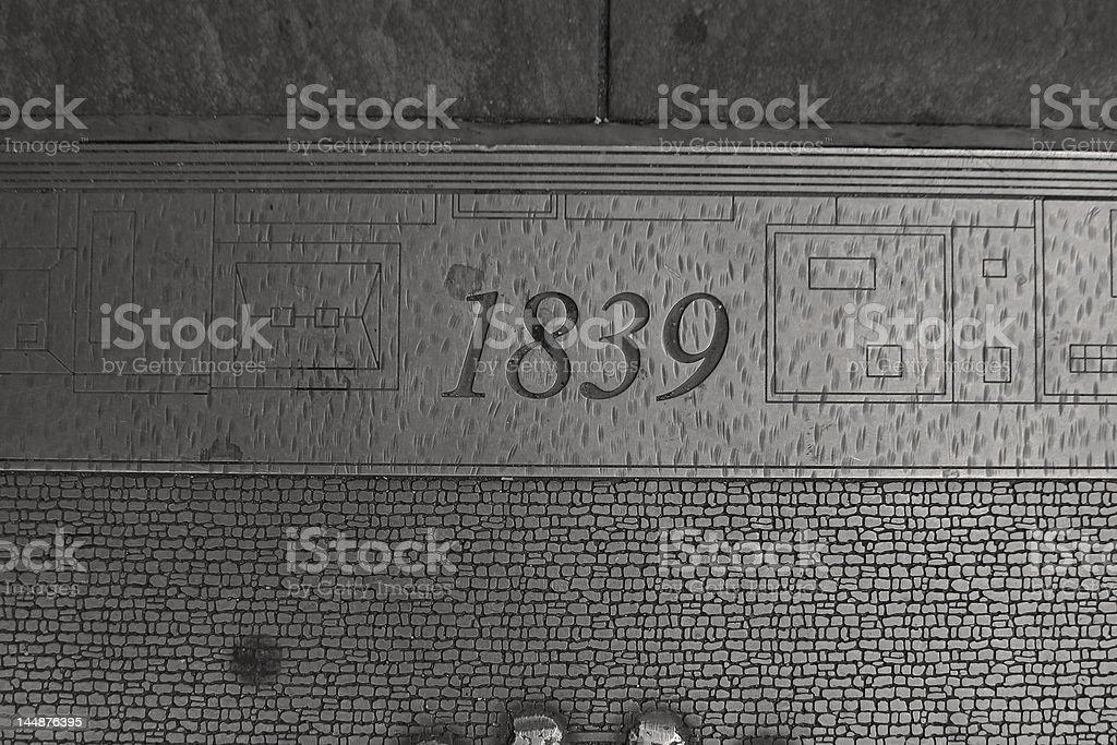 1839 stock photo